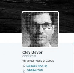 Laut Twitter-Profil hat Clay Bavor bei Google die neugeschaffene Position als Vicepresident Virtual Reality übernommen (Screenshot: ITespresso).