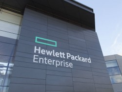 Firmenschild von Hewlett Packard Enterprise (Bild: HPE).
