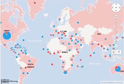 Ortsbasierte Daten integriert TIBCO Spotfire automatisch in eine Karten-Darstellung. (Bild: TIBCO)