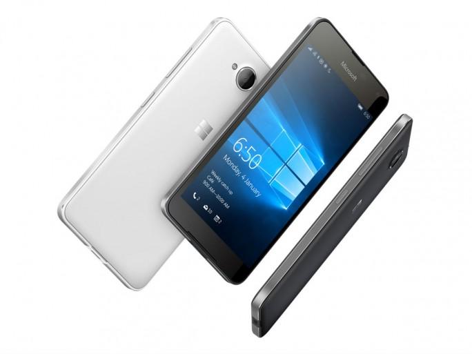 Lumia 650 liegt zwischen dem Einstiegsgerät Lumia 550 und den High-End-Modellen 950 sowie 950 XL. (Bild: Microsoft)