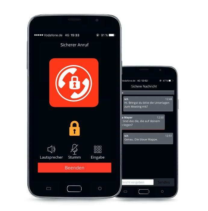 Vodafones Verschlüsselungslösung ermöglicht jetzt auch sicheren Versand von Text-Nachrichten. (Bild: Vodafone)
