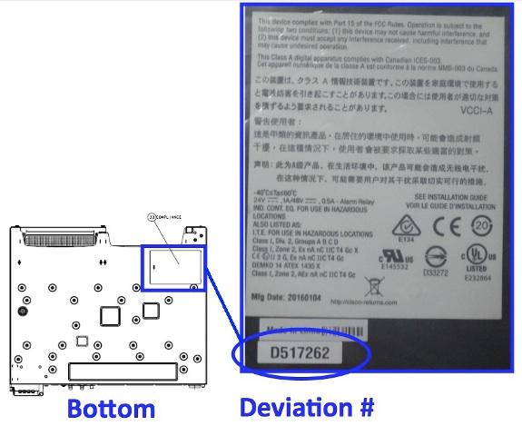 Das Deviation-Label befindet sich auf der Unterseite des Gerätes. Wahlweise lasse sich die Seriennummer auch über den Geräte-Manager herausfinden. (Bild: Cisco)