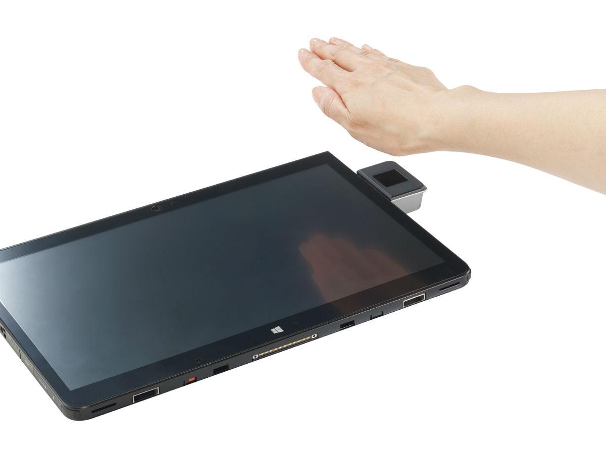 Berührungsloser Handvenen-Scan als nahezu fälschungssichere Authentifizierungsmethode. (Bild: Fujitsu).
