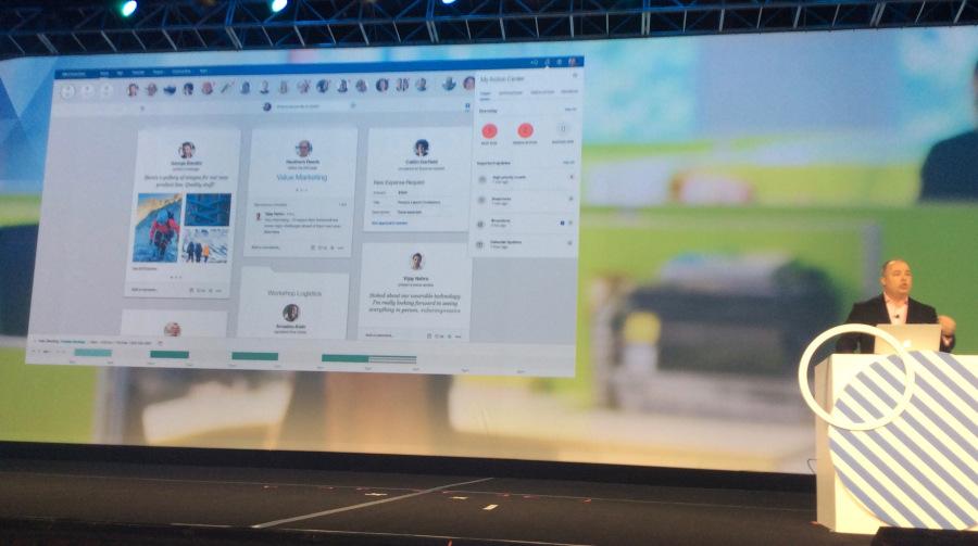 Die neue Home Page mit Action Center, die für IBM Verse und IBM Connections zur Verfügung stehen wird. (Bild: Stefan Pfeiffer)