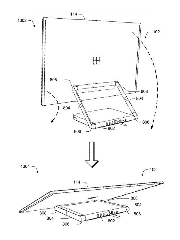 Microsoft lässt sich ein modulares Konzept für Personal Computer patentieren. (Bild: US-Patent-Office)