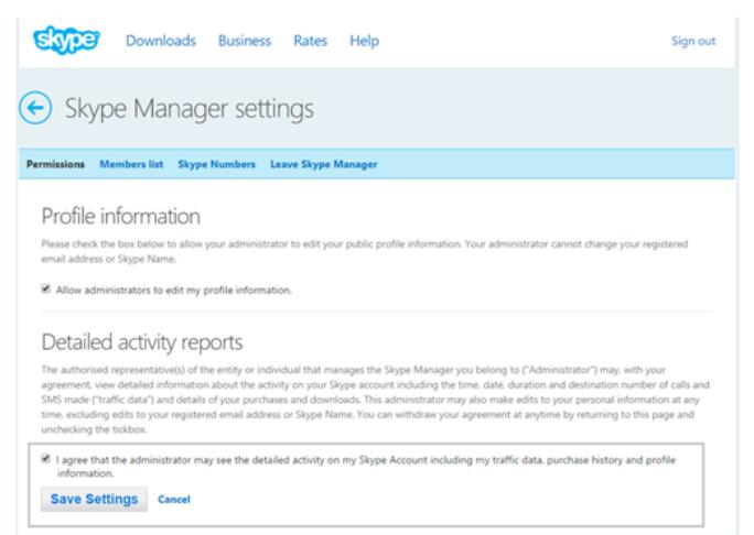 Microsoft ändert Skype-Konten. Administratoren benötigen künftig die Zustimmung der Benutzer, um Profile zu ändern oder Nutzungsdaten einzusehen. Wahlweise können Anwender auch auf Office 365 und das darin enthaltene Skype for Business wechseln. (Screenshot: Microsoft).