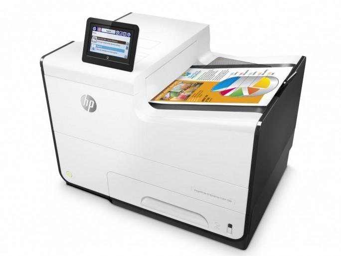 Die Drucker und MFP der PageWide-Familie wie der PageWide Enterprise Color 556 sind ab April beziehungsweise Juni erhältlich. (Bild: HP Inc)