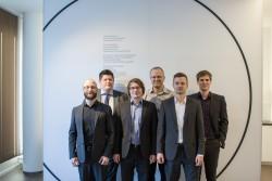 Das Interhyp-Projekteam mit Mathias Högerl, Oliver Winkler, Dieter Zillmann, Marcel Glaser, Fredrik Brandl und Michael Döring (von links nach recht). (Bild: Interhyp)