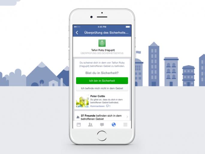 Facebook Safety Check (Screenshot: ZDNet.de)