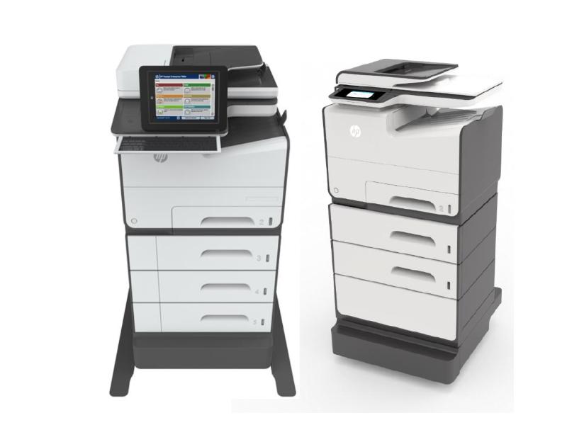 Bei Bedarf lässt sich die Papierzufuhr der PageWide-Geräte erweitern. (Bild: HP Inc)