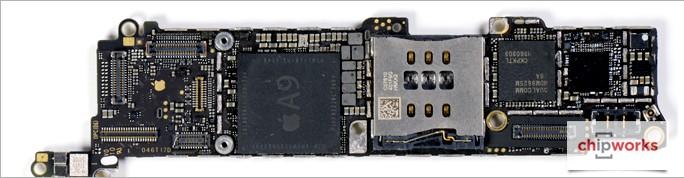 Hauptplatine des Apple iPhone SE (Bild: Chipworks)