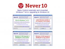 Never10 verhindert unter Windows 7 und 8.1 das automatische Update auf Windows 10 (Screenshot: ZDNet.de).