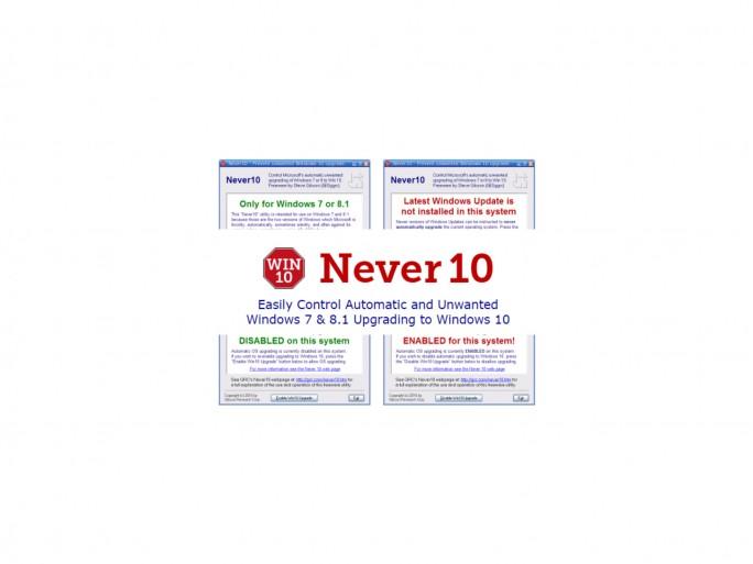 Never 10 (Screenshots: ZDNet.de)