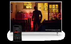 Vizio-Fernseher der P-Reihe mit Android-Tablet statt Fernsteuerung (Bild: Google)