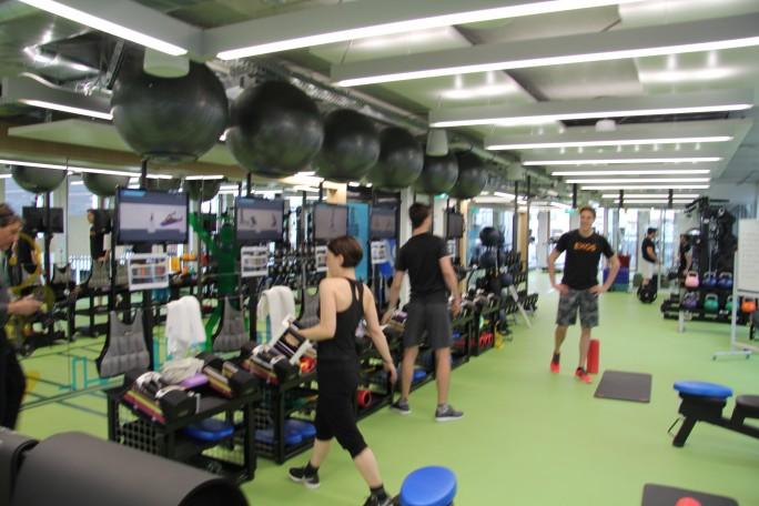 ... oder im eigenen Fitness-Studio... (Bild: Silicon.de)