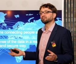 Oliver Tuszik, Deutschlandchef von Cisco, auf einer Firmenveranstaltung im Herbst 2015 in Berlin (Bild: Cisco).