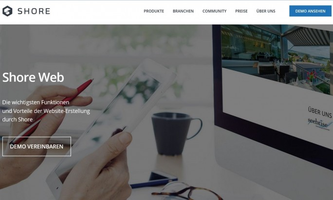 Auch Aufbau und Pflege einer Website kann man bei Shore buchen (Screenshot: Mehmet Toprak).