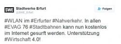 Stadtwerke Erfurt Twitter (Screenshot: silicon.de)