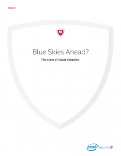 "Globaler Bericht ""Blue Skies Ahead? The State of Cloud Adoption""</a> von Intel Security (Screenshot: Silicon.de)"