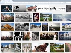 """Trefferliste bei der Suche nach """"Getty Images"""" bei der Bildersuche von Google.de (Screenshot: silicon.de)"""