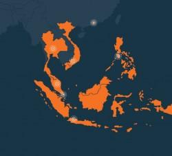 Die von Lazada abgedeckten Länder in Südostasien im Überblick (Screenshot: silicon.de)