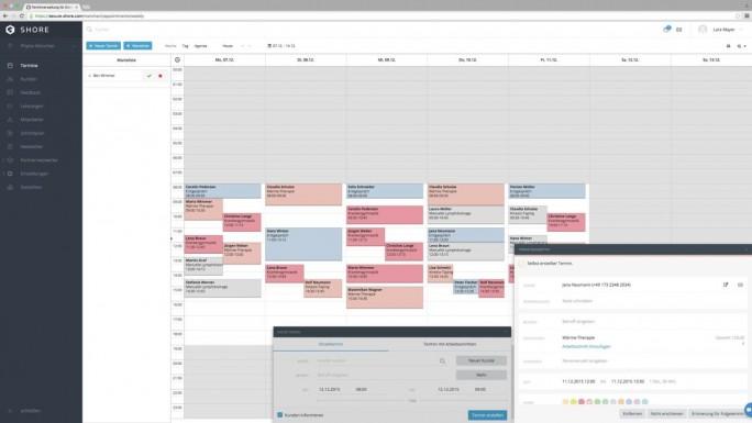 Der Shore-Terminkalender bietet auch eine Schnittstelle zu Microsoft Outlook (Screenshot: Shore).