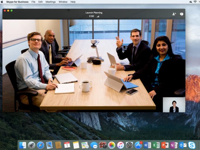 Skype for Business für Mac OS X (Bild: Microsoft)