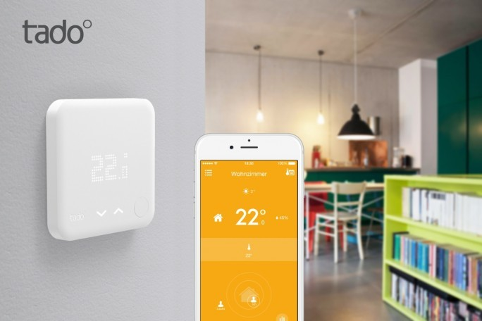 Das Münchner Start-up Tado stellt für die lernfähige Heizungssteuerung im Smart Home ein Thermostat und eine App bereit (Bild: Tado).