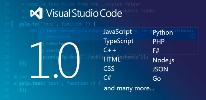 Microsoft hat Visual Studio Code 1.0 freigegeben (Bild: Microsoft).