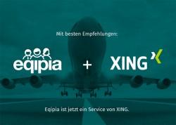 Auf Eqipia.de erscheint der Hinweis, dass Eqipia jetzt ein Service von Xing ist (Screenshot: Silion.de)