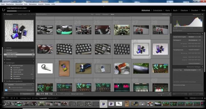 Adobe Lightroom verbindet eine leistungsfähige Bildverwaltung mit ausgereiften Bearbeitungsfunktionen (Screenshot: Mehmet Toprak).