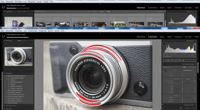 Fotografen, die im RAW-Format fotografieren, nutzen Adobe Lightroom für die digitale Entwicklung der Fotos (Screenshot: Mehmet Toprak).