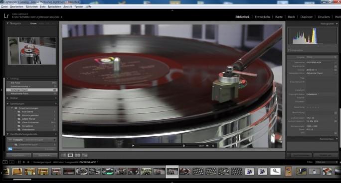 Inzwischen schon Standard: Programme wie Adobe Lightroom geben auch Videos wieder (Screenshot: Mehmet Toprak).