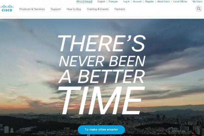 Die Website von Cisco, Africa sieht genauso aus wie die ...
