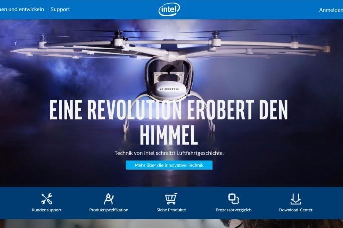 Die Website von Intel, Deutschland sieht genauso aus wie die  ... (Screenshot: Mehmet Toprak)