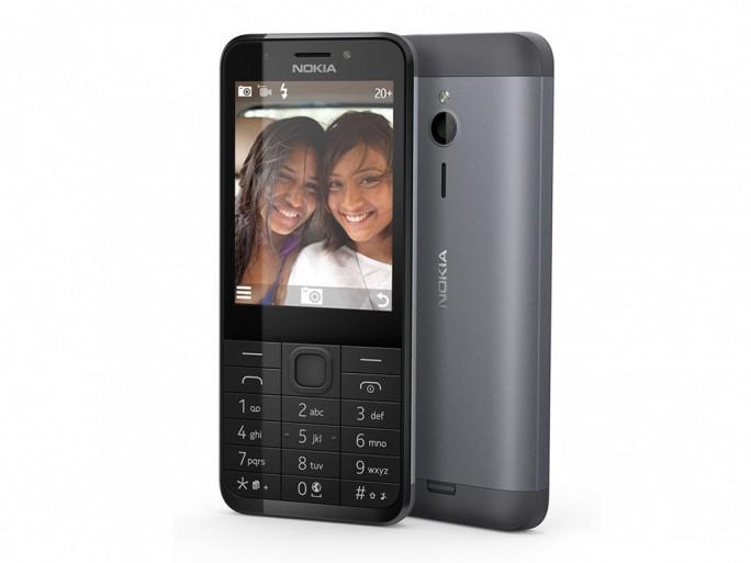 Eines der hierzulande erhältlichen Feature-Phones ist das Nokia 230. Als Betriebssystem nutzt es Nokias Series 30+ (Bild: Microsoft).