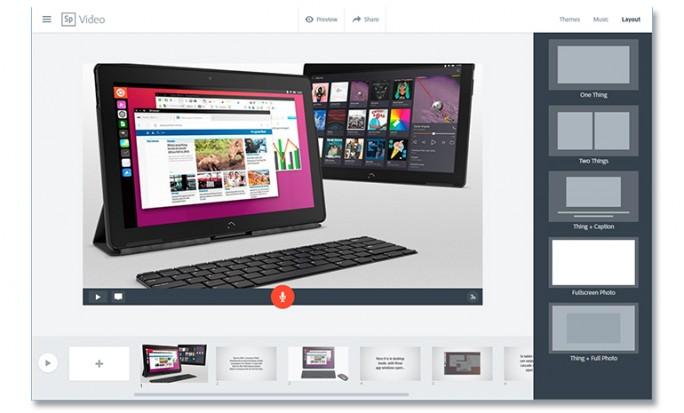 Video erstellen mit der Spark-Web-App (Bild: ZDNet.com)