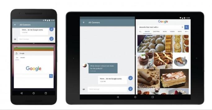 Mit Android N führt Google auch einen Multi-Window-Modus ein (Bild: Google).