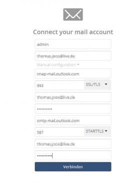In der Mail-App von ownCloud können Anwender ihre Posteingänge verwalten. (Screenshot: Thomas Joos)