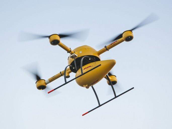 """In Deutschland hat sich bislang vor allem DHL bei der Erprobung von Drohnen - den sogennanten """"DHL Paketkoptern"""" -  hervorgetan (Bild: DHL)."""