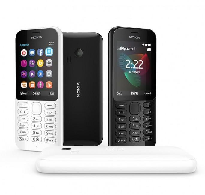 Die Dual-SIM-Variante des Nokia 222 kam im November für 59 Euro auch in Deutschland auf den Markt (Bild: Microsoft).