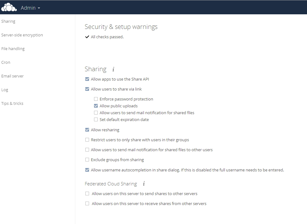 In ownCloud 9 können Anwender Dokumente besser zwischen verschiedenen OwnCloud-Infrastrukturen teilen. (Screenshot: Thomas Joos)