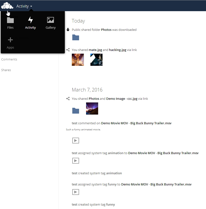 Über die Aktivitäten können Anwender auf einen Blick erkennen, welche Dokumente neu sind und andere Anwender kommentiert haben. (Screenshot: Thomas Joos)