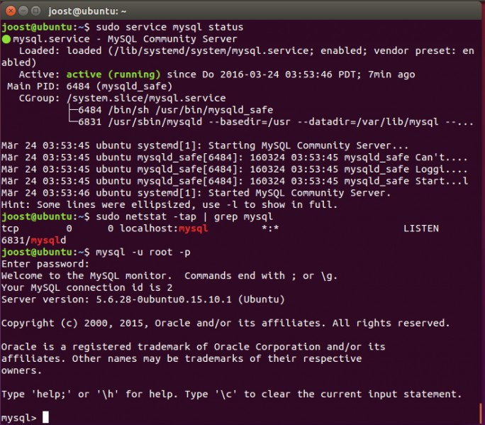 MySQL ist eine ideale Datenbank-Grundlage von ownCloud 9. (Screenshot: Thomas Joos)