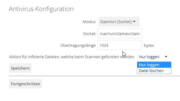 Über den Administrator-Bereich steuern Administratoren auch den Virenschutz der gespeicherten Dateien. (Screenshot: Thomas Joos)