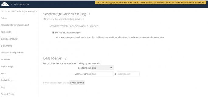 Nach der Aktivierung der Verschlüsselung müssen sich Anwender ab- und wieder anmelden. (Screenshot: Thomas Joos)