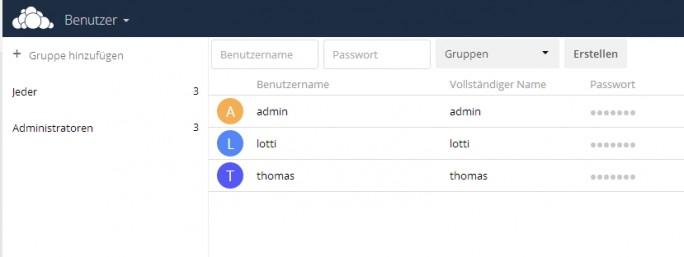Die angelegten Benutzer dürfen sich über die mobilen Apps an ownCloud anmelden. (Screenshot: Thomas Joos)