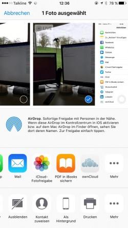 Fotos und andere Dokumente lassen sich mit der ownCloud-App in Android und iOS schnell und einfach in den Cloudspeicher laden. (Screenshot: Thomas Joos)