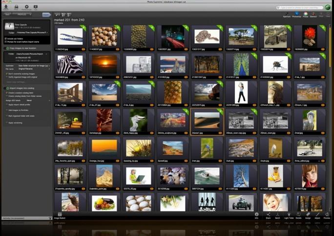 Photo Supreme von ID Imager Systems, eine professionelle Software für das Digital Asset Management in Unternehmen (Screenshot: ID Imager).