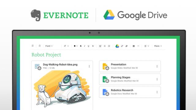 Anwender können seit einigen Wochen mit Evernote auch auf die Inhalte in Google Drive zugreifen. (Bild: Evernote)
